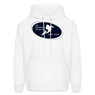 Hoodies ~ Men's Hooded Sweatshirt ~ Adult White Hoodie with Glitz Print Logo