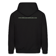 Hoodies ~ Men's Hooded Sweatshirt ~ Adult Hoodie with Glow-in-The Dark Logo
