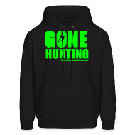 Hoodies ~ Men's Hooded Sweatshirt ~ Gone Hunting Neon Hoodie