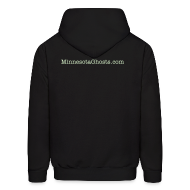 Hoodies ~ Men's Hooded Sweatshirt ~ Black Ghost Ying Yang Hoodie with Glow In Dark Prints