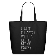Bags & backpacks ~ Eco-Friendly Cotton Tote ~ Artsy fartsy - tote bag