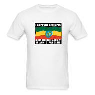 T-Shirts ~ Men's Standard Weight T-Shirt ~ I Support Ethiopia