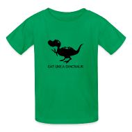 Kids' Shirts ~ Kids' T-Shirt ~ Eat Like a Dinosaur - white shirt
