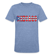 T-Shirts ~ Men's Tri-Blend Vintage T-Shirt ~ Chicago Rican
