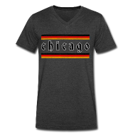 T-Shirts ~ Men's V-Neck T-Shirt by Canvas ~ Chicago German Style