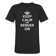 T-Shirts ~ Men's Tri-Blend Vintage T-Shirt ~ Keep calm and render on