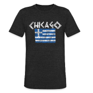 T-Shirts ~ Men's Tri-Blend Vintage T-Shirt ~ Chicago Greek Flag