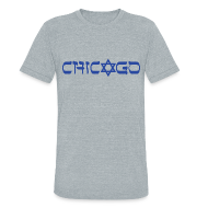 T-Shirts ~ Men's Tri-Blend Vintage T-Shirt ~ Chicago Hebrew