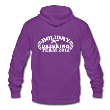 HOLIDAY DRINKING team 2012 with a palm tree great for holiday t-shirt Zip Hoodies/Jackets