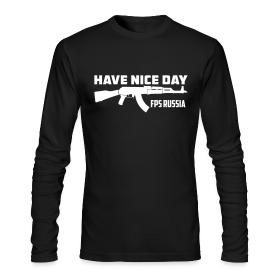 Long Sleeve Tee : Have Nice Day (white) ~ 279