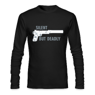 Long Sleeve Shirts ~ Men's Long Sleeve T-Shirt by American Apparel ~ Long Sleeve Tee : Silent But Deadly