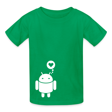 Droid in love 1c Kids' Shirts