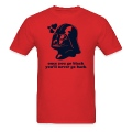 Darth Vader ONCE YOU GO BLACK - men's t-shirt