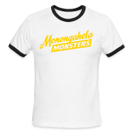 T-Shirts ~ Men's Ringer T-Shirt by American Apparel ~ Monongahela Monster's Coach T-Shirt