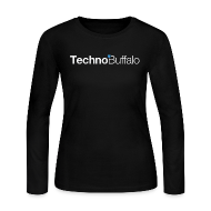 Long Sleeve Shirts ~ Women's Long Sleeve Jersey T-Shirt ~ TechnoBuffalo Long Sleeve Gals (Black)