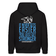Hoodies ~ Men's Hooded Sweatshirt ~ Stronger| CutAndJacked | Mens hoodie (back Print)