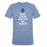 T-Shirts ~ Men's Tri-Blend Vintage T-Shirt ~ Keep Calm And Go Up North