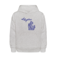 Sweatshirts ~ Kids' Hooded Sweatshirt ~ Native Michigan