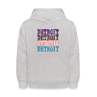 Sweatshirts ~ Kids' Hooded Sweatshirt ~ Detroit Colors