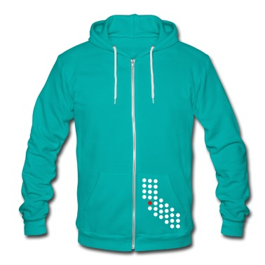 San Francisco, Oakland, San Jose - California Zip Hoodies/Jackets