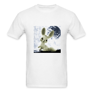 T-Shirts ~ Men's Standard Weight T-Shirt ~ Space Bunny White