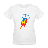 Women's T-Shirts ~ Women's Standard Weight T-Shirt ~ Rainbow Dash Cutie Mark F/White