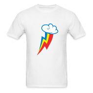 T-Shirts ~ Men's Standard Weight T-Shirt ~ Rainbow Dash Cutie Mark M/White