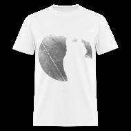 T-Shirts ~ Men's T-Shirt ~ Black & White Kitty Cat Graphic Print Classic Cut T-Shirt