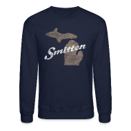 Long Sleeve Shirts ~ Men's Crewneck Sweatshirt ~ Smitten