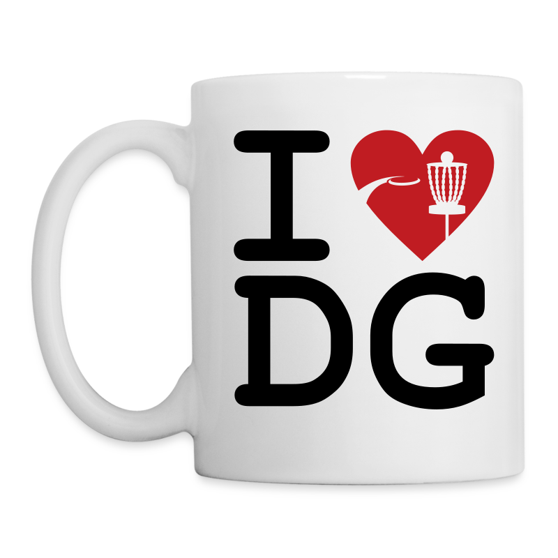 I Love Disc Golf Mug - White