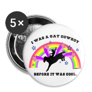Buttons ~ Small Buttons ~ Gay Cowboy 1
