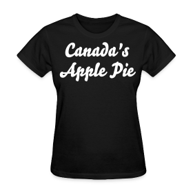 Women's Black T-Shirt  - Canada's Apple Pie ~ 625