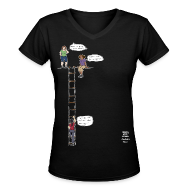 Women's T-Shirts ~ Women's V-Neck T-Shirt ~ Overhanging Cliff T-Shirt - V-Neck