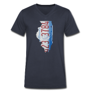 T-Shirts ~ Men's V-Neck T-Shirt by Canvas ~ Illinois Plate State