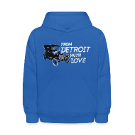 Sweatshirts ~ Kids' Hooded Sweatshirt ~ From Detroit With Love
