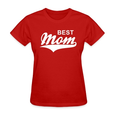 BEST Mom Tail-Design T-Shirt WR