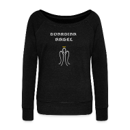 Long Sleeve Shirts ~ Womens Wideneck Sweatshirt ~ Guardian Angel Wideneck SweatShirt