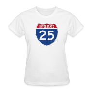 Women's T-Shirts ~ Women's Standard Weight T-Shirt ~ Interstate 25 - Ladies