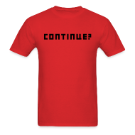 T-Shirts ~ Men's T-Shirt ~ Continue Logo Black