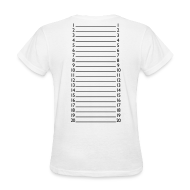 Women's T-Shirts ~ Women's T-Shirt ~ Basic Length Check T-Shirt