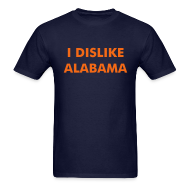 T-Shirts ~ Men's T-Shirt ~ I DISLIKE ALABAMA - Blue