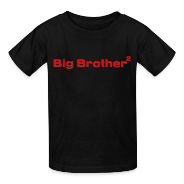 Black Big Brother of Twins Kids Shirts