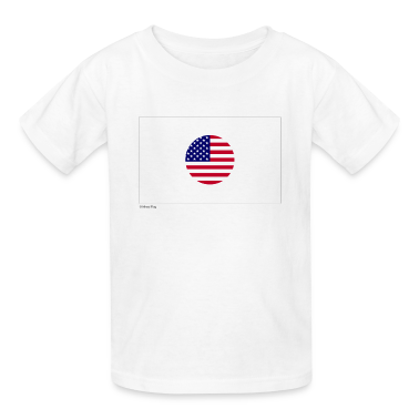 White Japan USA Mixed Flag Kids Shirts