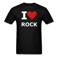 T-Shirts ~ Men's Standard Weight T-Shirt ~ Men's Black I love rock T