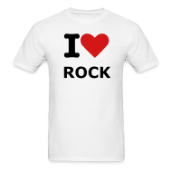 T-Shirts ~ Men's Standard Weight T-Shirt ~ Men's White I love rock T