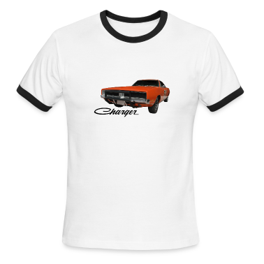 White/black auto_dodge_charger_rgb_01 T-Shirts (Short sleeve)