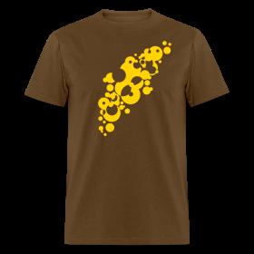 Crazy Yellow Bubbles Design T Shirt Vintage Designer