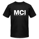 Kansas City Airport Code MCI Missouri  Fitted T-Shirt