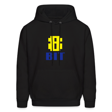 Black 8BIT Hoodies