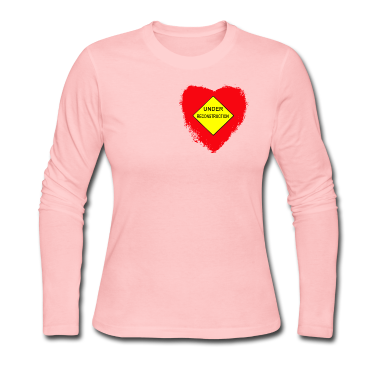 Light pink Heart Under Reconstruction Tees (Long sleeve)